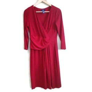 CHAPS | stretchy silky red dress